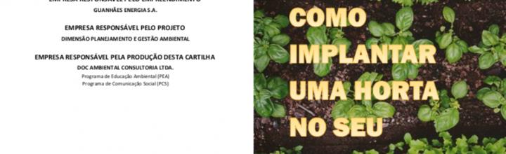 Cartilha Horticultura – Como implantar uma Horta